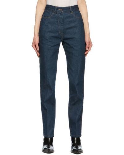 Niebieskie jeansy bawełniane Lemaire