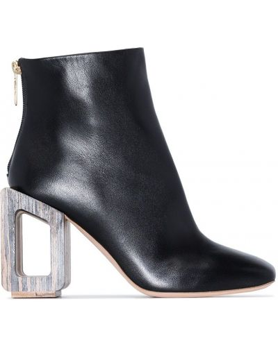 Czarne ankle boots skorzane Nicholas Kirkwood