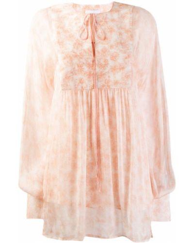 Свободная розовая блузка с длинным рукавом Noon By Noor