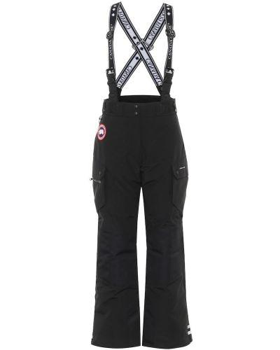 Ватные хлопковые черные брюки карго Canada Goose