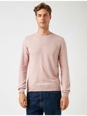 Sweter bawełniany - różowy Koton