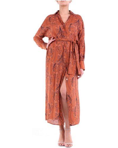 Pomarańczowa sukienka długa Maesta