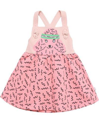 Хлопковое платье - розовое Stella Mccartney Kids