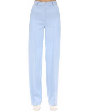 Niebieskie spodnie z wysokim stanem Lesyanebo