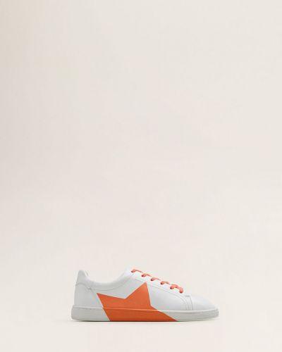 Кроссовки на шнуровке текстильные Mango Kids