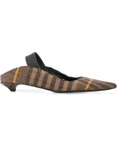 Туфли на каблуке черные с ремешком Proenza Schouler