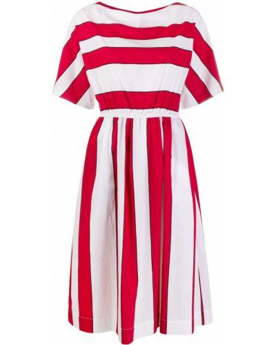 Прямое платье миди с нашивками с карманами с вырезом Woolrich