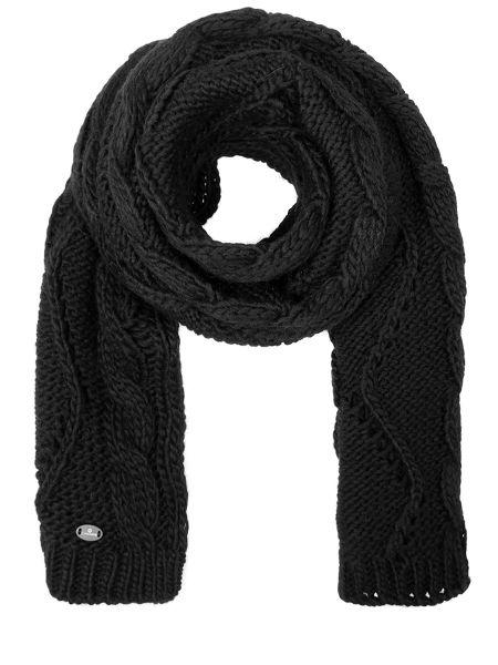 Черный классический шарф из альпаки прямоугольный Canadiens