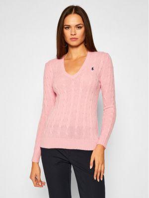 Różowy kaszmir sweter Polo Ralph Lauren