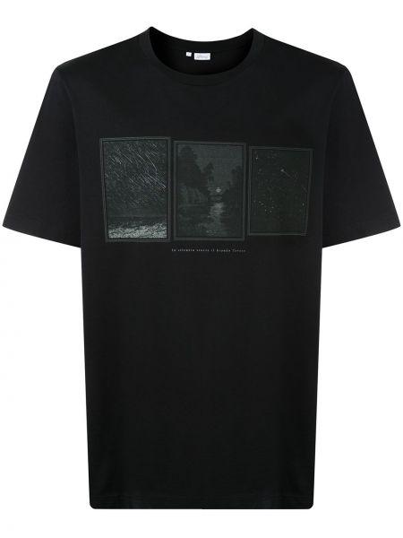 Koszula krótkie z krótkim rękawem z logo prosto Brioni