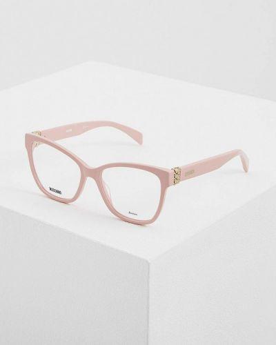 Розовая оправа Moschino
