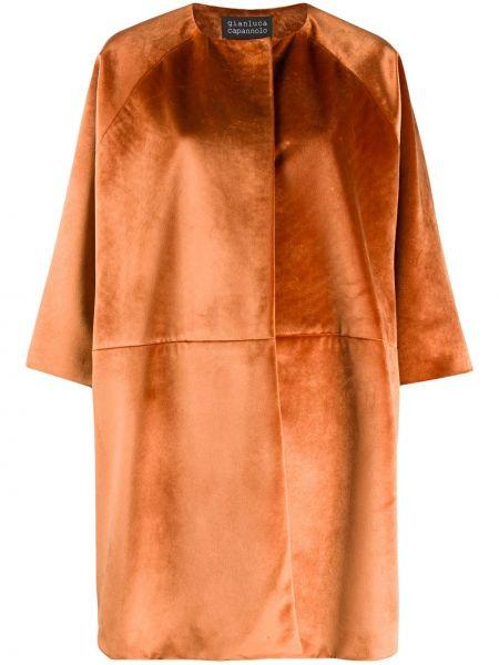 Оранжевый пиджак круглый с вырезом Gianluca Capannolo