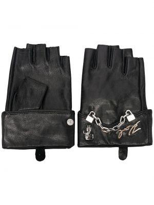 Rękawiczki skorzane - białe Karl Lagerfeld