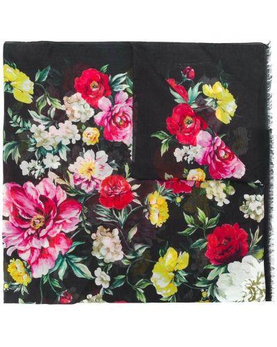 Шарф с бахромой с цветочным принтом Dolce & Gabbana