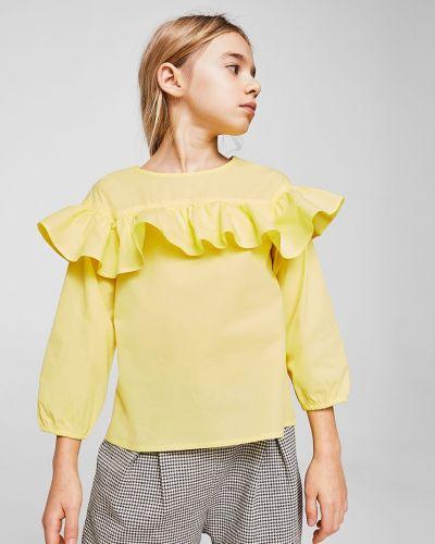 Блуза желтый Mango Kids