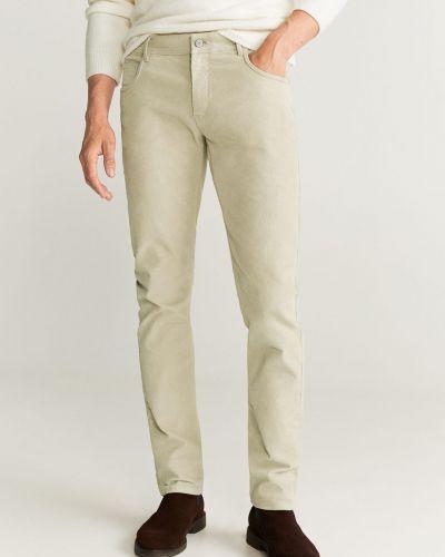 Spodnie z kieszeniami wełniane Mango Man