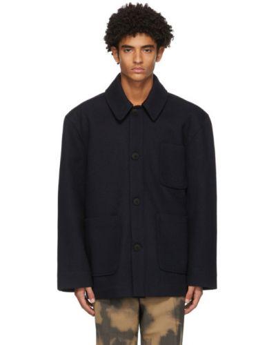 С рукавами шерстяная длинная куртка с подкладкой с воротником Schnaydermans