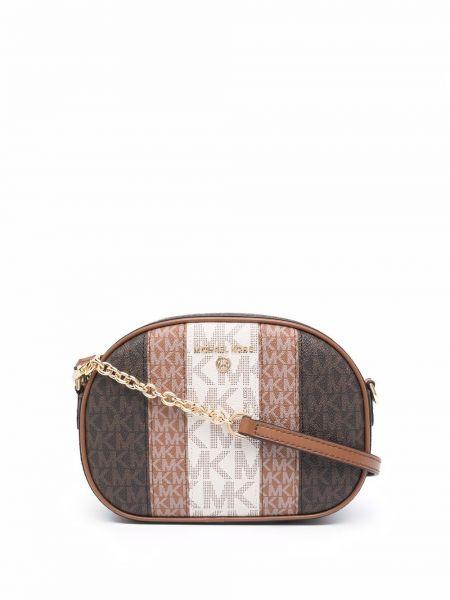 Коричневая кожаная сумка Michael Kors Collection