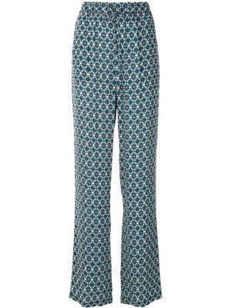 Niebieskie spodnie z wysokim stanem z wiskozy Elie Tahari