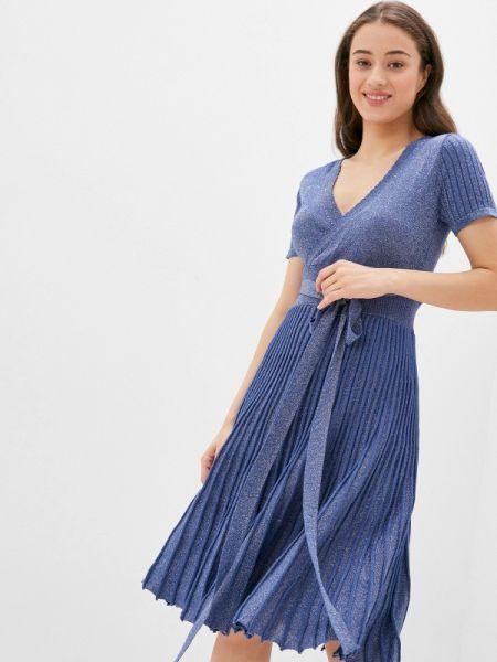 Однобортное синее платье Care Of You