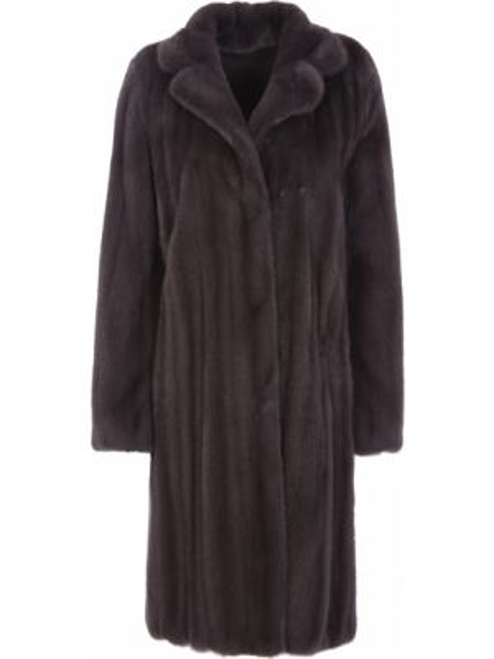 Коричневое свободное расклешенное пальто с воротником Manzoni 24