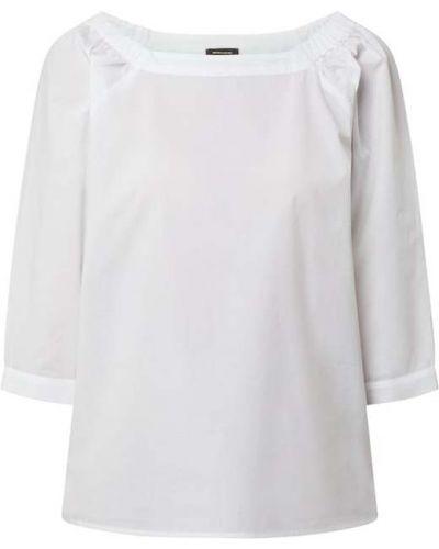 Biała bluzka bawełniana z raglanowymi rękawami More & More