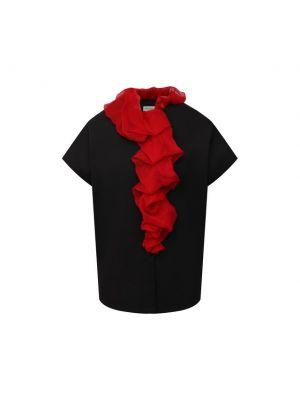 Шелковая блузка - черная Dries Van Noten