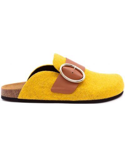 Желтые кожаные мюли без застежки Jw Anderson