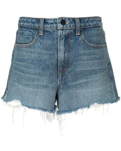 Джинсовые шорты с карманами на пуговицах Alexander Wang
