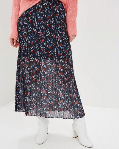 Плиссированная юбка синяя Lost Ink.