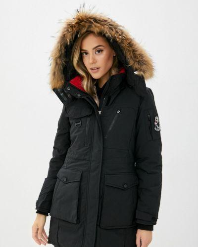 Теплая черная утепленная куртка Adrixx