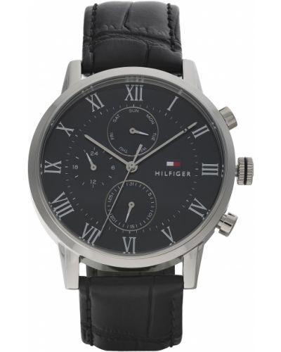 Zegarek srebrny - czarny Tommy Hilfiger