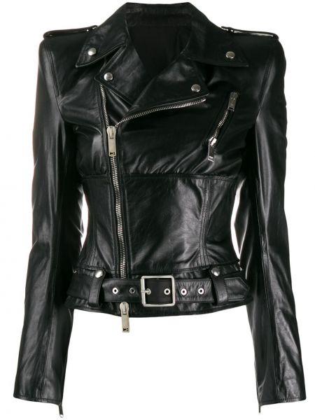 Черная куртка на молнии металлическая с карманами Unravel Project