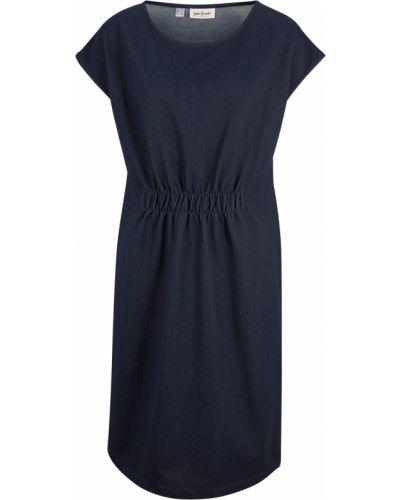 Трикотажное платье - голубое Bonprix