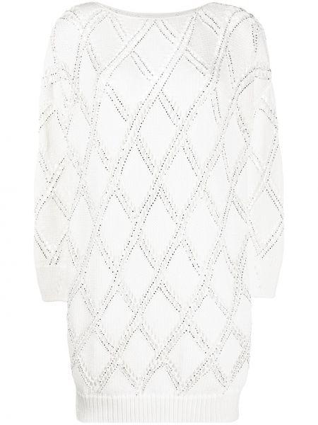 Платье макси платье-свитер прямое Ermanno Scervino