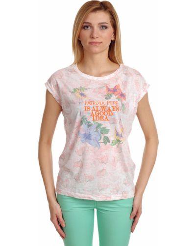 Розовая футболка из вискозы Patrizia Pepe