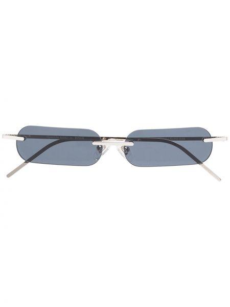 Черные солнцезащитные очки прямоугольные металлические с завязками Blyszak