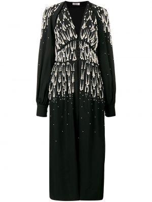 Czarna sukienka z dekoltem w serek Attico