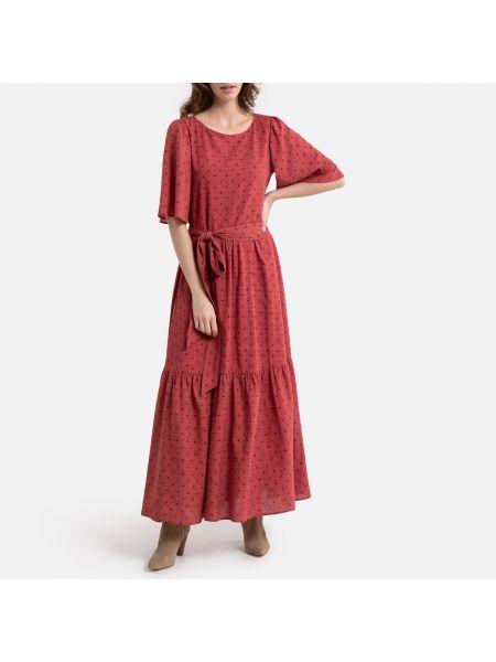 Платье мини в горошек на пуговицах La Redoute