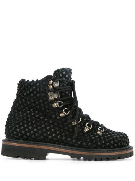 Кожаные черные кожаные ботинки Peter Non