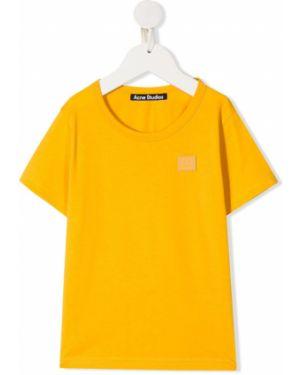 Прямая желтая с рукавами футболка Acne Studios