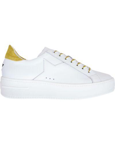 Массивные кожаные белые кроссовки Lorena Antoniazzi