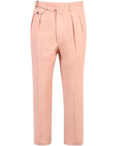 Pomarańczowe spodnie Lardini