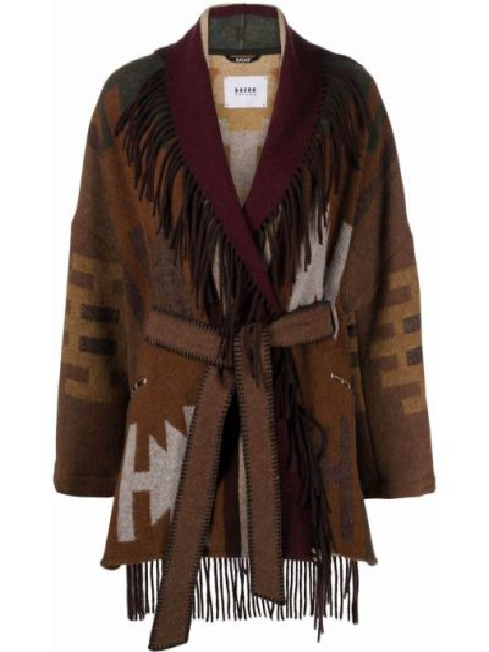 Шерстяное пальто - коричневое Bazar Deluxe