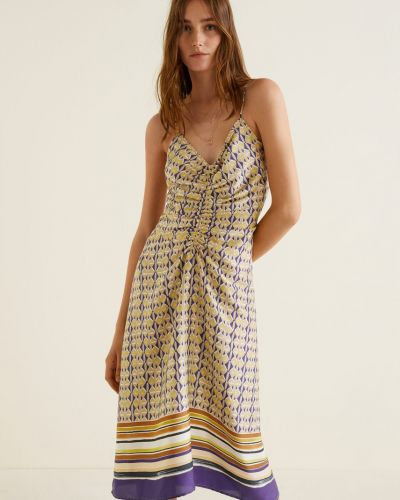 Платье миди с V-образным вырезом с поясом Mango
