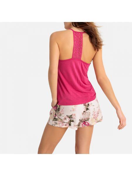 Пижама с шортами с цветочным принтом пижамный La Redoute Collections
