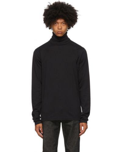Bawełna z koszulą długo czarny golf Acne Studios