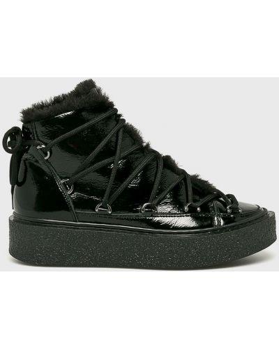 Кожаные сапоги на шнуровке на каблуке Gino Rossi