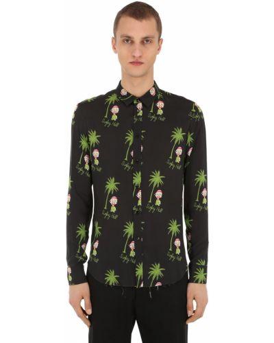 Klasyczna czarna klasyczna koszula z wiskozy Garçons Infideles