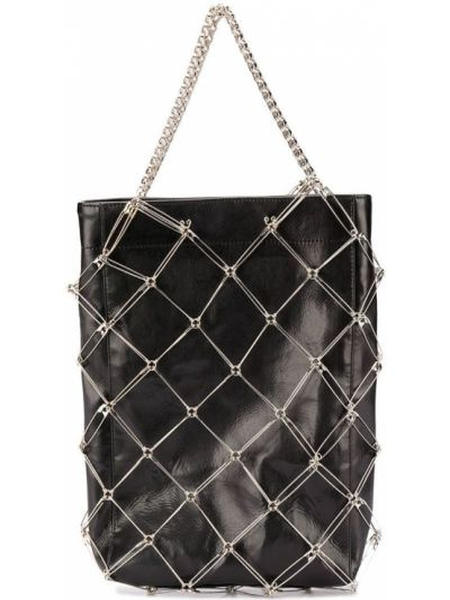 Черная сумка на цепочке металлическая Comme Des Garçons Noir Kei Ninomiya